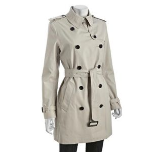New Burberry Harbourne Trench Coat in Stone